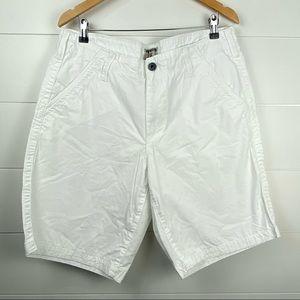 Express white chino shorts 36